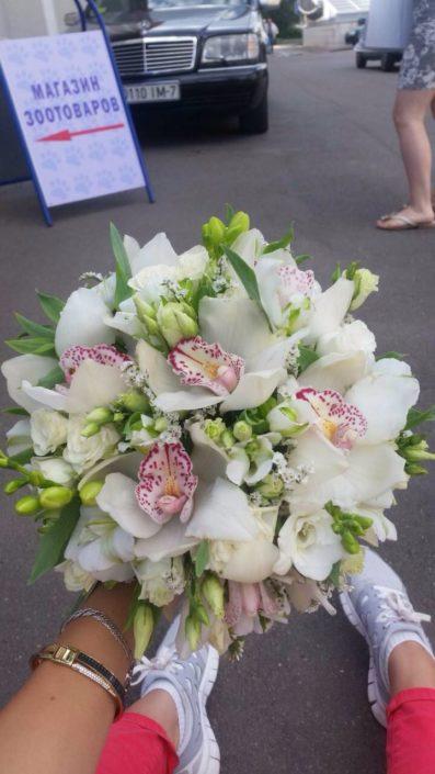 свадебный букет невесты 2018 букет из орхидей