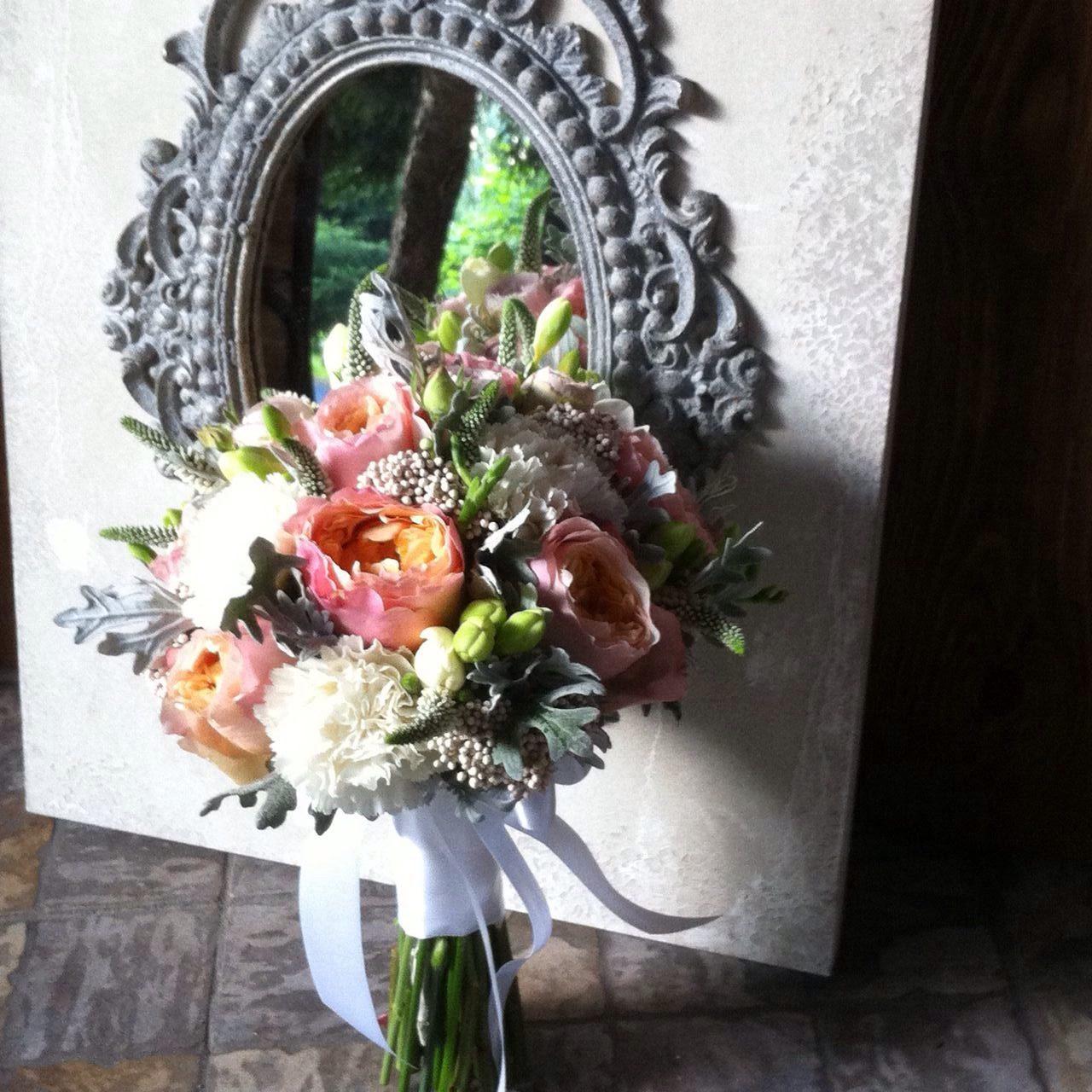 Букет невесты партизанская, цветов спб